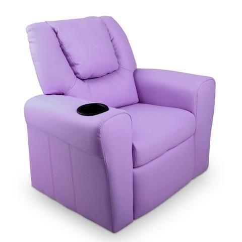 Fine Artiss Kids Pu Leather Reclining Armchair Purple Kids Pabps2019 Chair Design Images Pabps2019Com