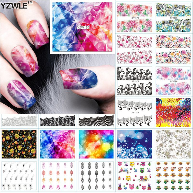 BestYZWLE Nail Art Water Decals Manicure Transfer Stickers DIYYZWLE ...