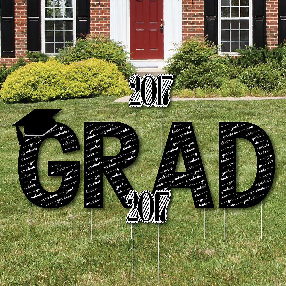 graduation cheers yard sign outdoor lawn decorations with stakes
