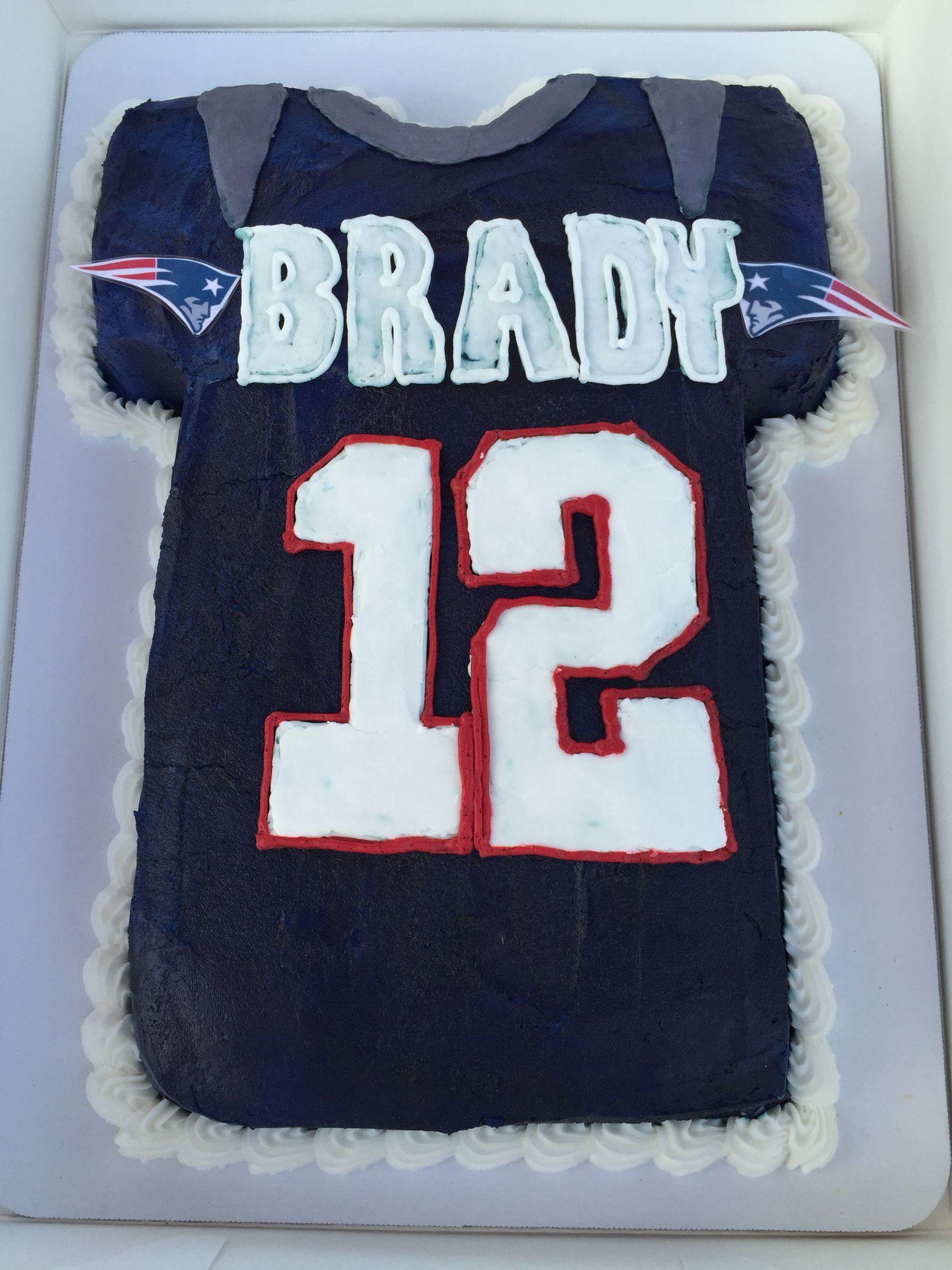 Nephews Birthday Cake New England Patriots Tom Brady New England