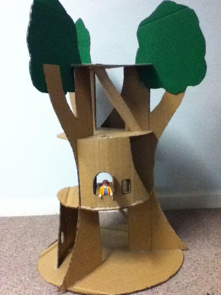The Cardboard Treehouse Cardboard Craft Ideas Cardboard Crafts