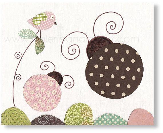 Nursery art prints – baby nursery decor – nursery wall art – Ladybug – Free Like A Bug print