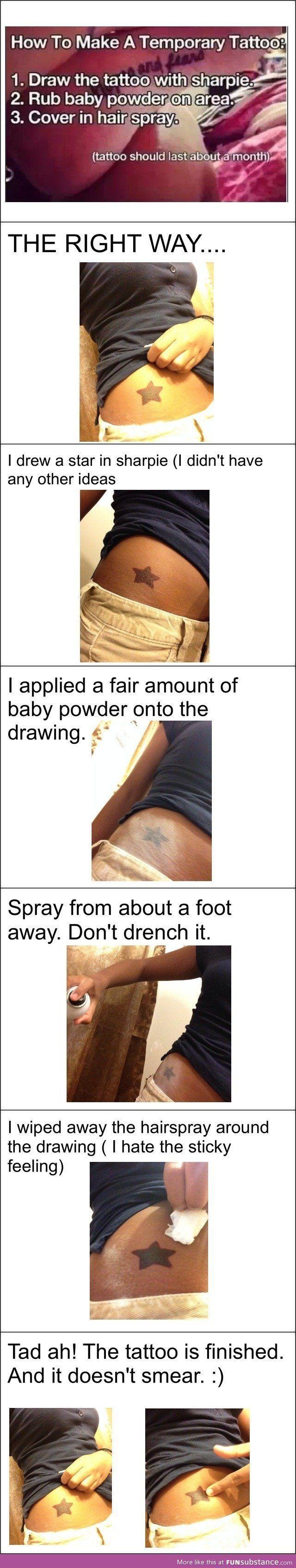 How To Make Sharpie Tattoos Last : sharpie, tattoos, Sharpie, Tattoo, Lasts, Month, Tattoos,, Temporary