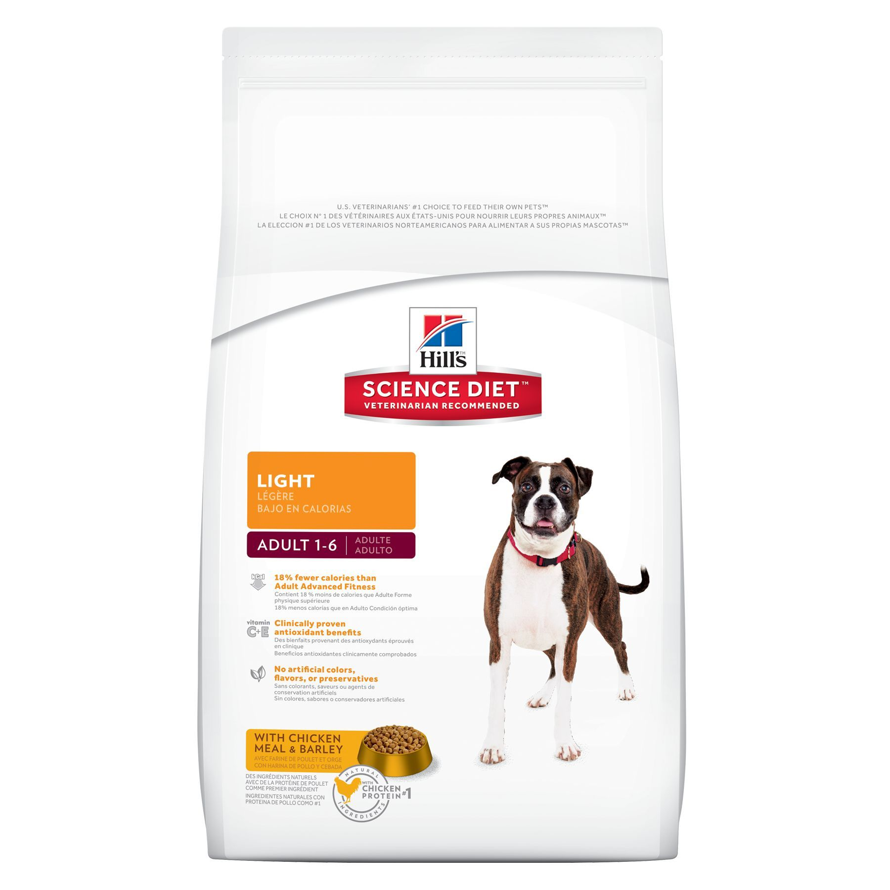 Hill S Science Diet Light Adult Dog Food Chicken Meal Barley