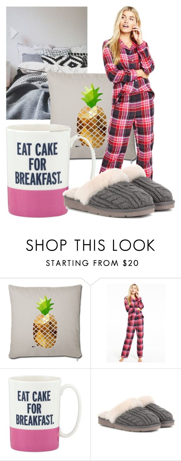 """Stay At Home Outfit"" by becky-b2 ❤ liked on Polyvore featuring Kate Spade and UGG"