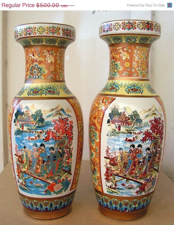 Chinese Antique Porcelain Vase Pair Porceln Pinterest Chinese