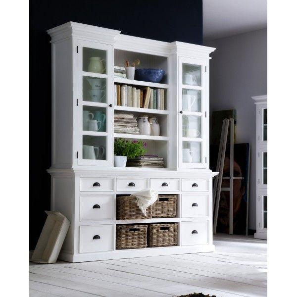 Halifax Mahogany Library Or Kitchen Hutch Cabinet