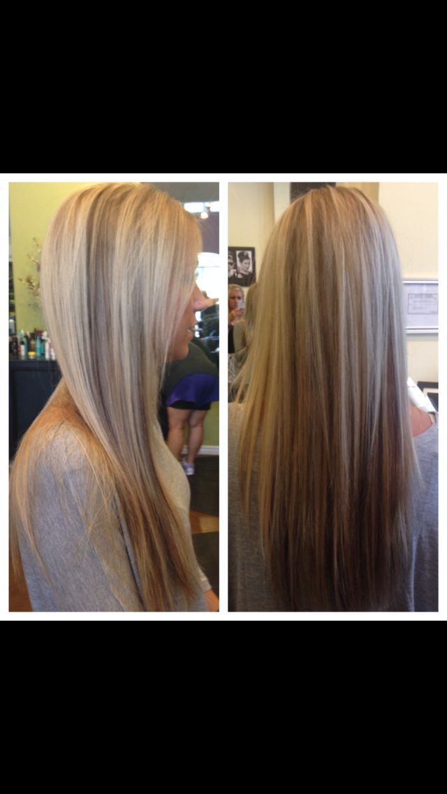 Heavy Highlights With Dark Lowlight Hair By Corid Pinterest