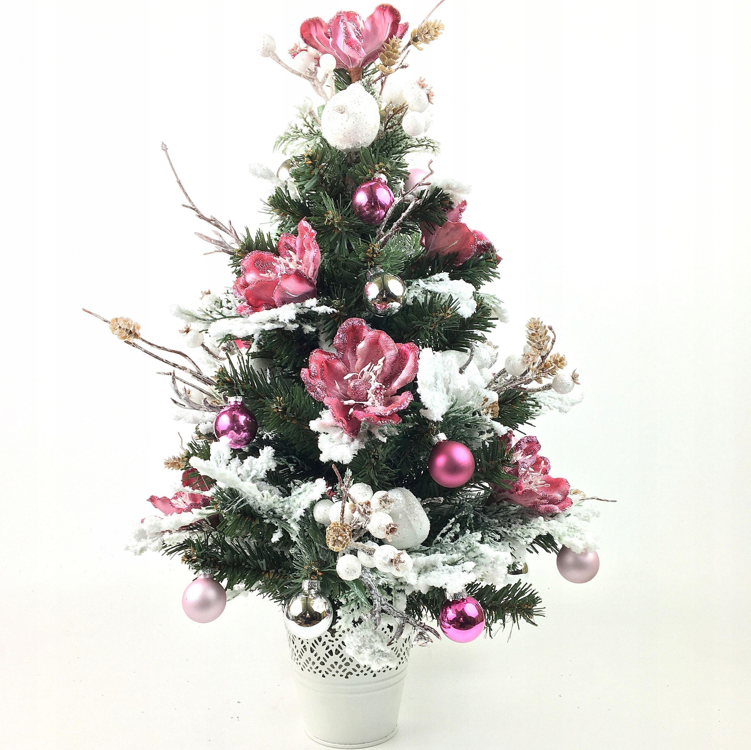 Choinka Bogato Dekorowana 56 Cm Stroik Swiateczny 8637832725 Oficjalne Archiwum Allegro Christmas Tree Floral Wreath Holiday Decor