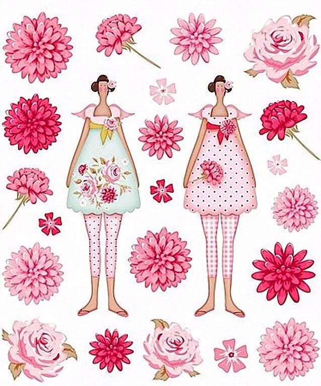 Tilda, plaatjes bloemen