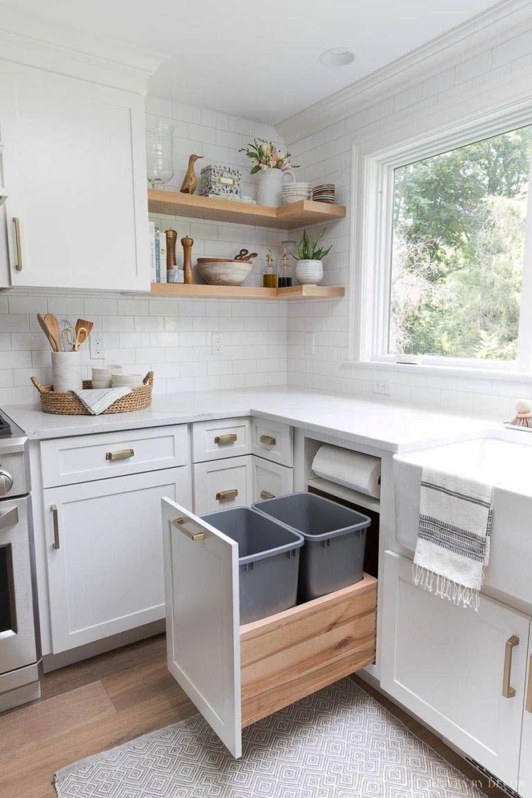14 Stellar Ikea Hacks That Manage Your Entire Cooking Area Zeltahome Com White Kitchen Design Kitchen Cabinet Storage Kitchen Cabinets Storage Organizers