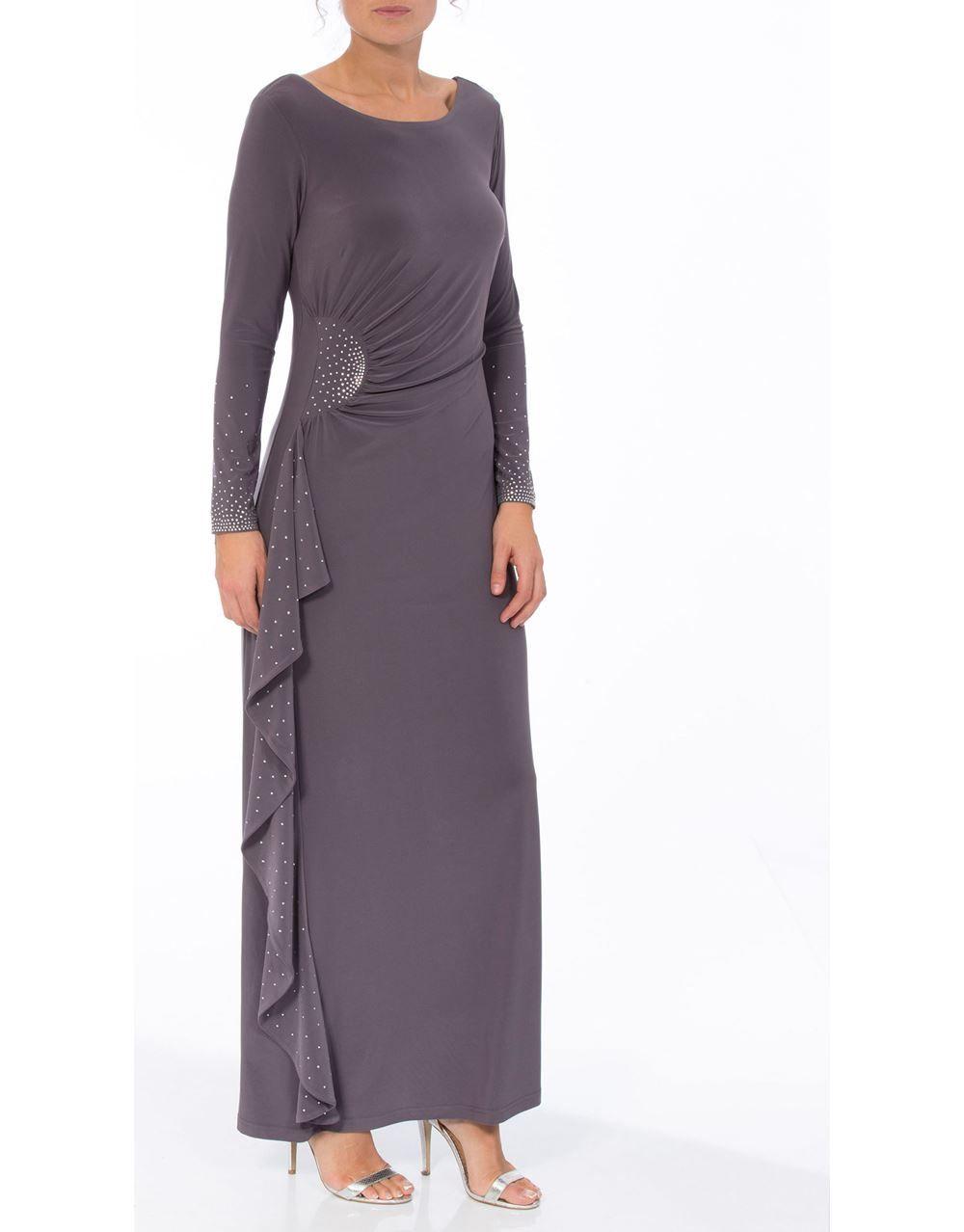 Embellished long sleeve maxi dress letus party pinterest long