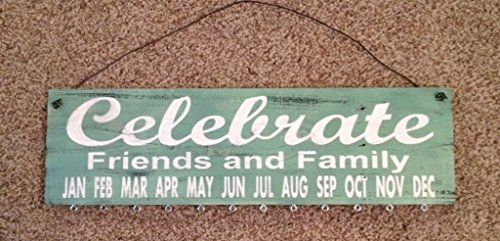 Birthday Board Celebrate Friends And Family Sage Green Sign With
