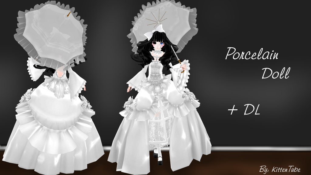 Porcelain Doll + DL [MMD] -Halloween Special- by KittenTube