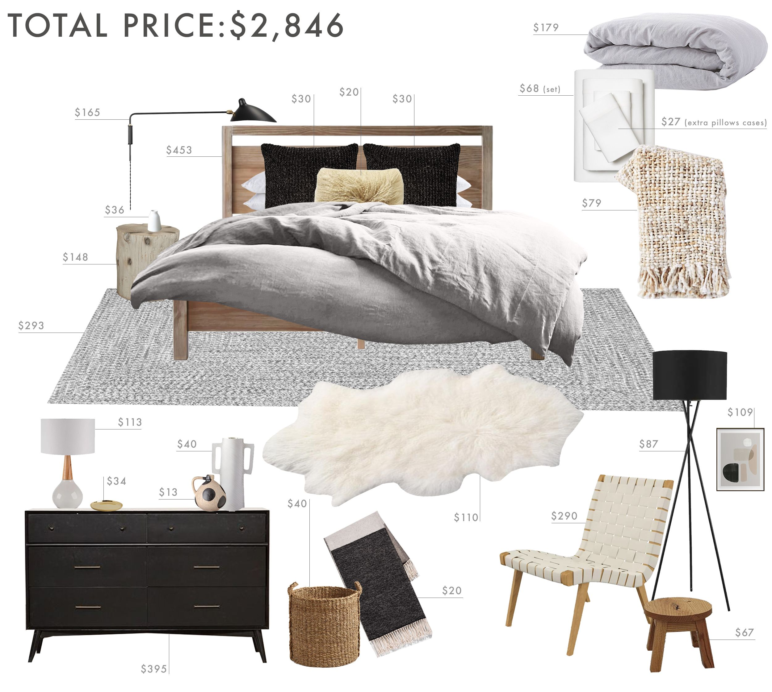 Budget Room Design Rustic And Refined Scandinavian Bedroom Emily Henderson Scandinavian Design Bedroom Scandinavian Bedroom Stylish Bedroom Design