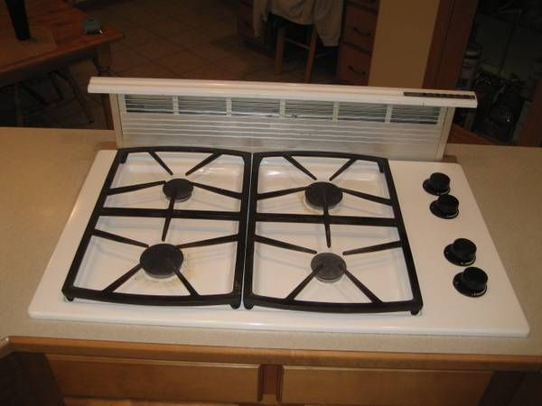Dacor Gas Cooktop Model Sgm364r With Pop Up Vent System Cooktop