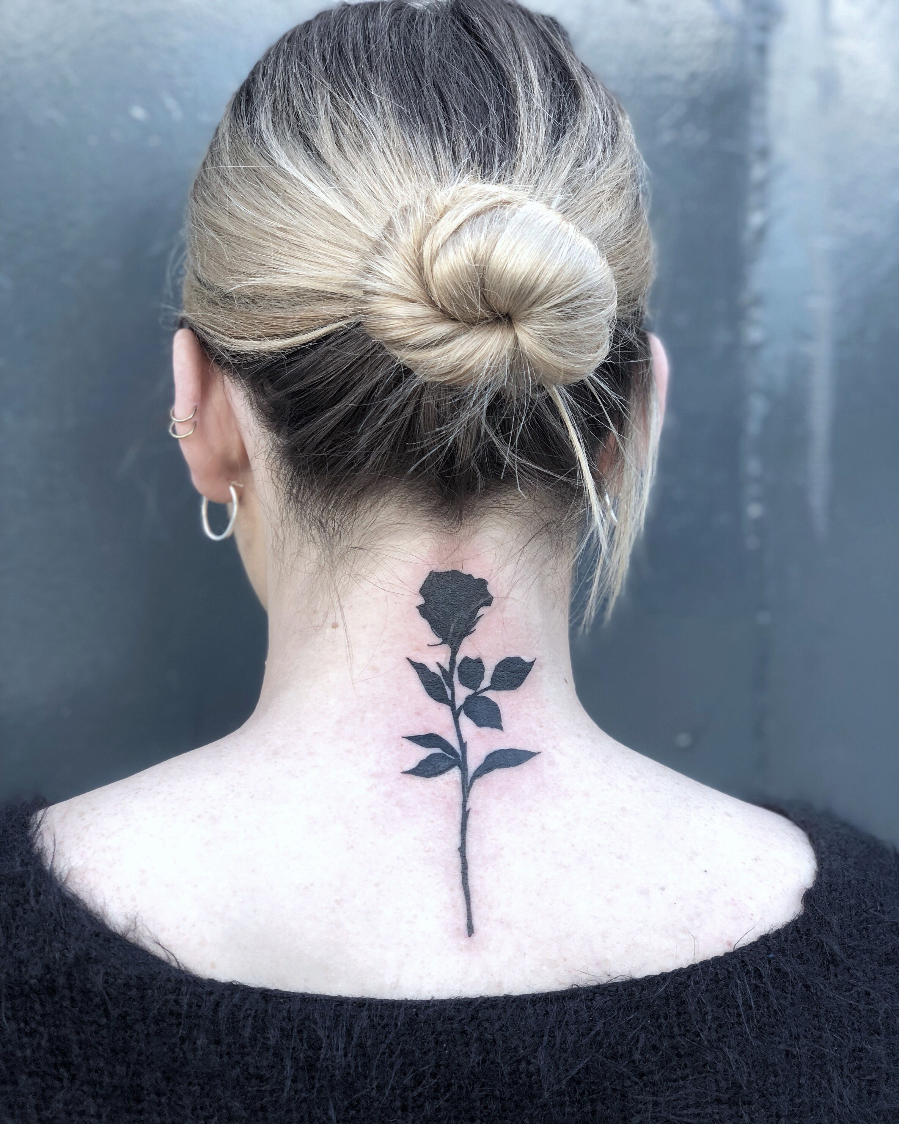 Rose silhouette tattoo | Black rose tattoos, Rose tattoo ...