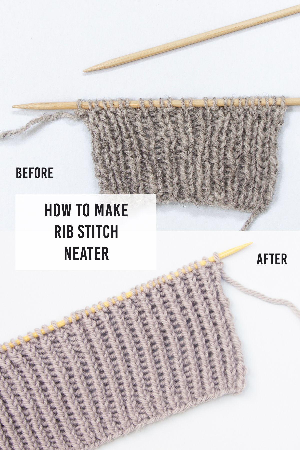 How To Make Rib Stitch Neater: Twisted Rib Stitch #knitting