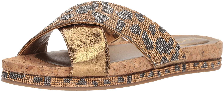 1e623a2082b Kenneth Cole REACTION Women s Shore-LY Slip Slide X-Band Straps Flat Sandal.  Flat slide sandal with criss cross straps. Women s Shoes