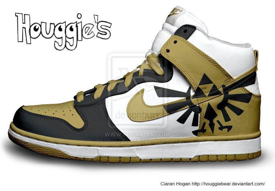 Hylian Crest Nike Dunks by HouggieBear on DeviantArt