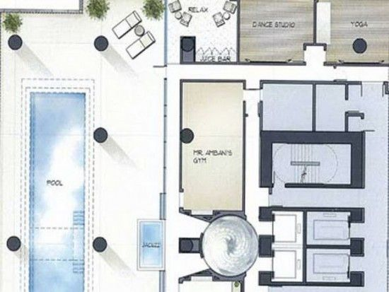 Antilia Health Level The indoor/outdoor health level features a lap ...