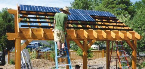 Solar Pergola Installation Solar Pergola Carport In