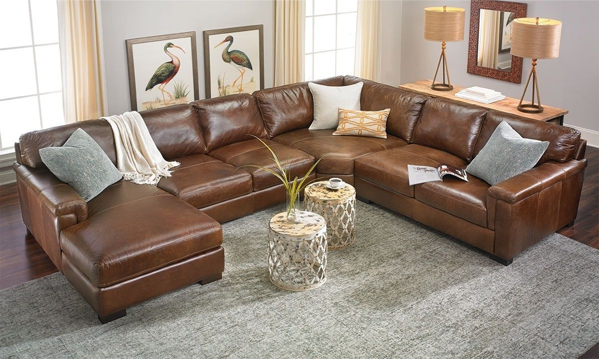 Top Grain Italian Leather Sectional With Left Side Chaise In 2020