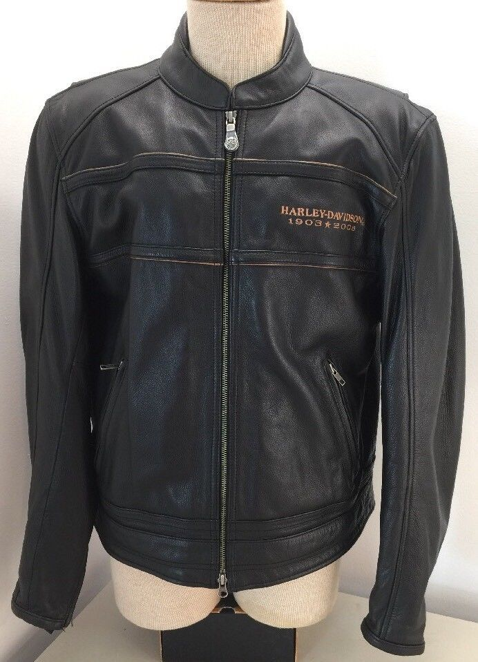 Harley Davidson Men's 105th Anniversary Leather Riding