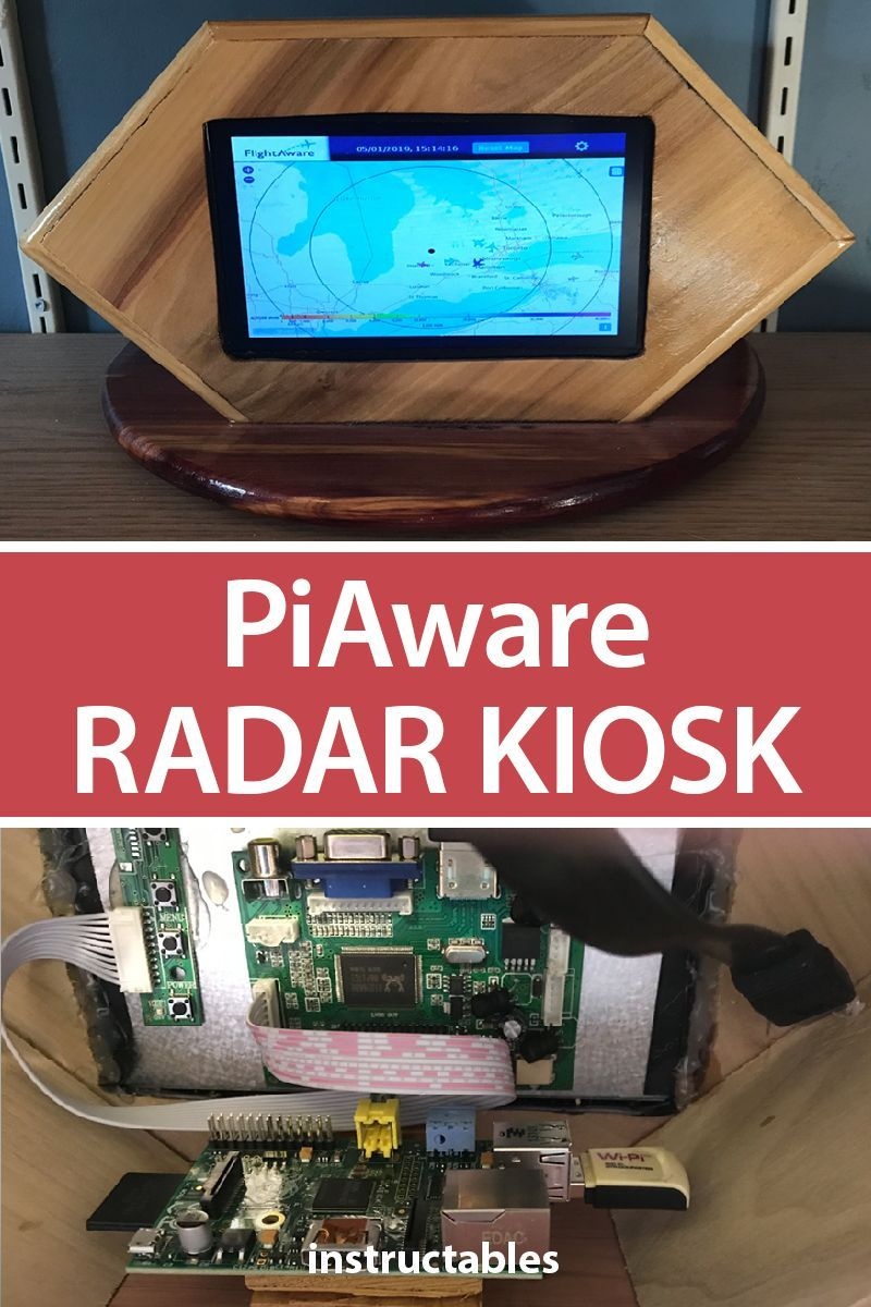 PiAware Radar Kiosk | Raspberry Pi | Electronics projects, Hobby