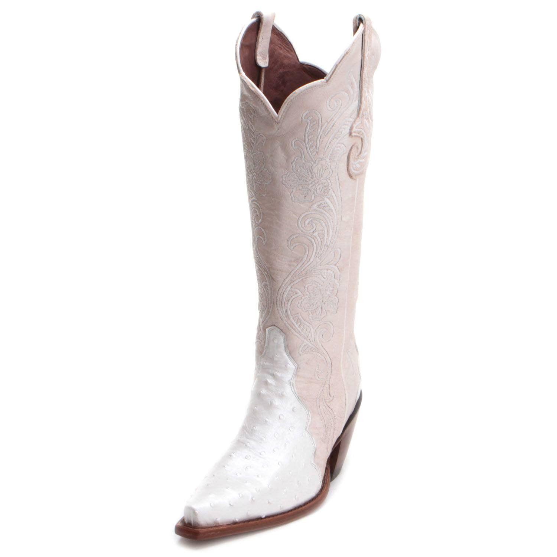 625ff9d4 Reba Womens Full Quill Ostrich Wedding Boots Wide Calf in 2019 ...
