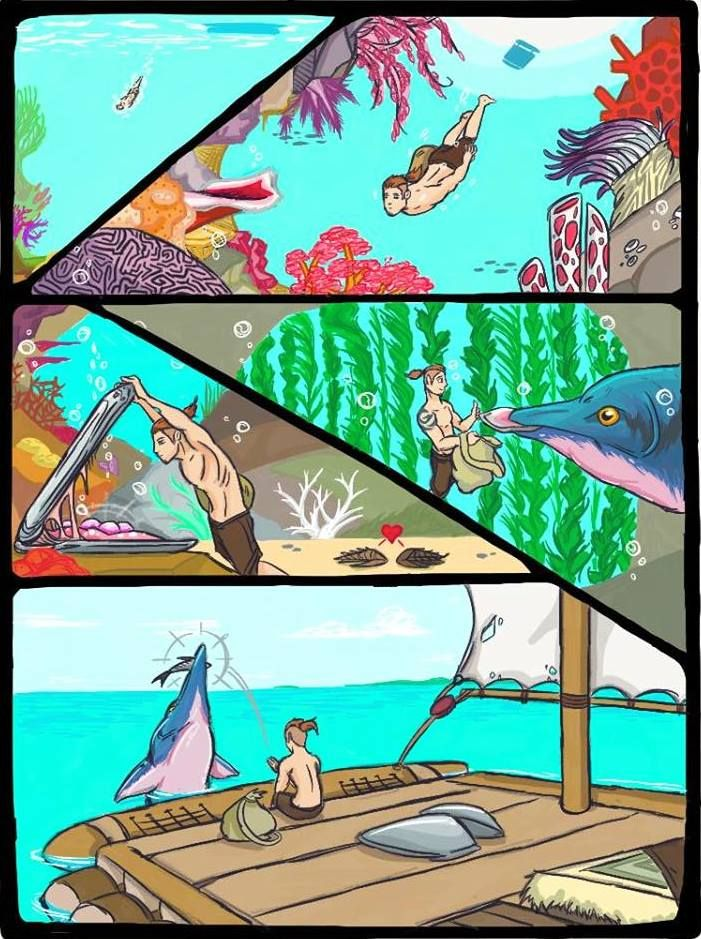 ARK STORY Pt 3 - Into the Blue by DjayMasi | Random | Ark, Creature