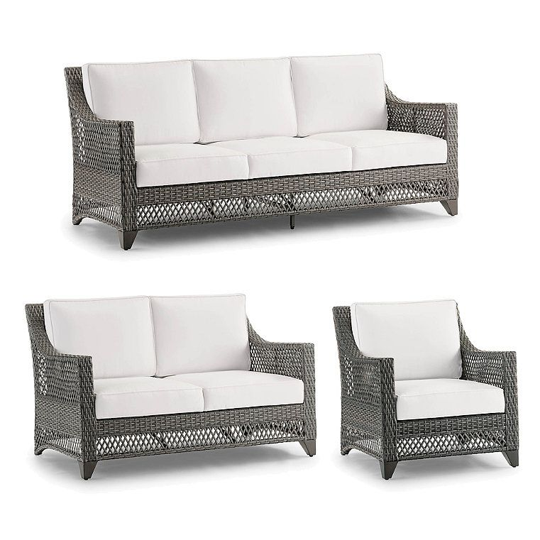 Graham 3 Pc Sofa Set Frontgate In, Frontgate Patio Furniture Covers