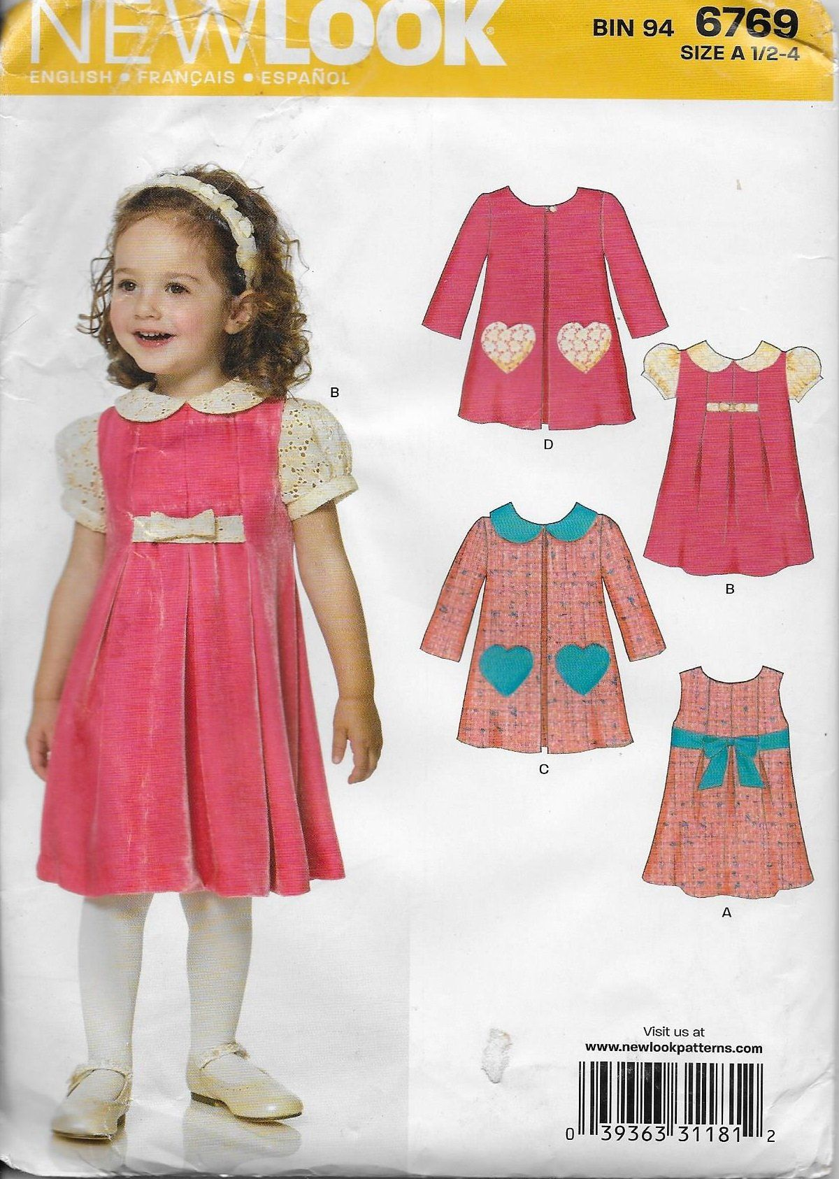 New look toddlersu dress and jumper sewing pattern size