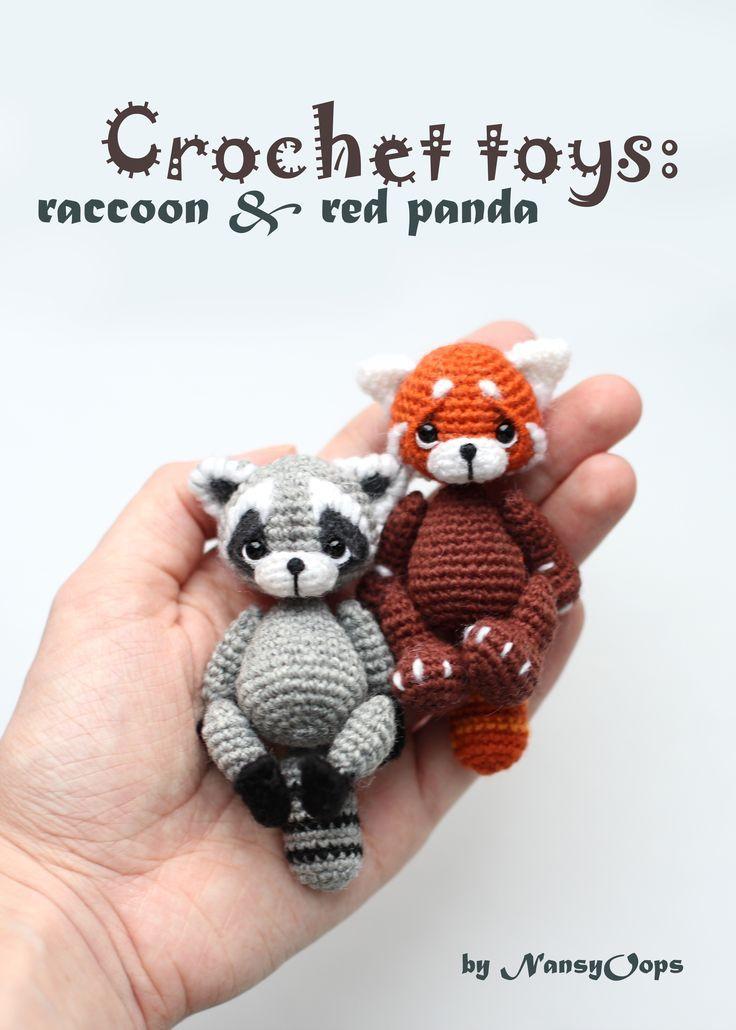 Raccoon Tori pattern by Anastasia Kirs #stuffedtoyspatterns