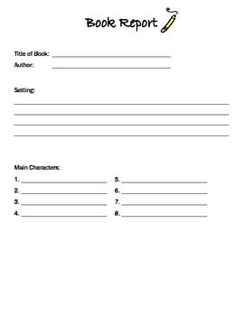 Book Report Template  Book Report Templates Book Reports And