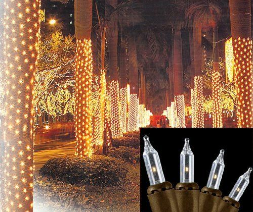 2\u0027 x 8\u0027 Clear Twinkle Christmas Net Style Tree Trunk Wrap Lights