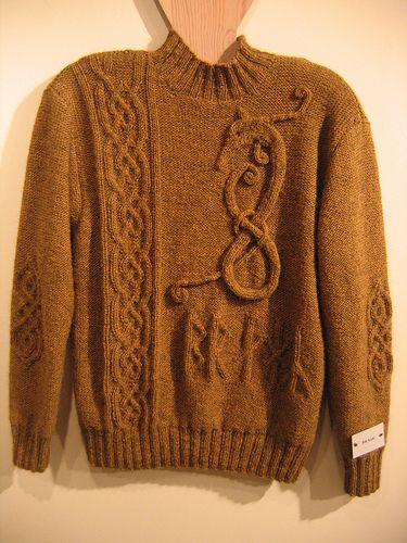 Braga - the Dragon Runes sweater on the Rainey Sisters blog. No ...