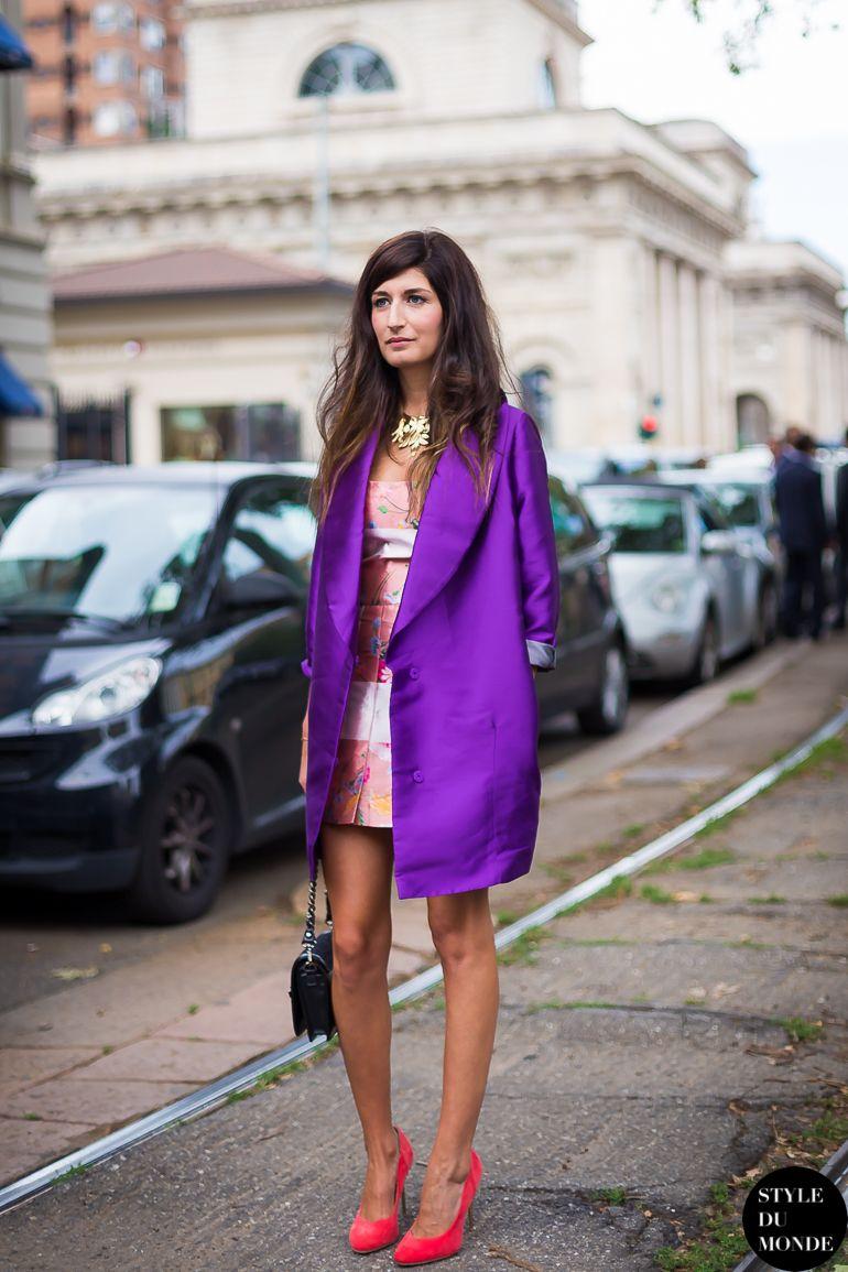 #ValentinaSiragusa popping purple in Milan.