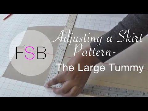 Adjusting A Skirt Pattern The Large Tummy Youtube Someday I