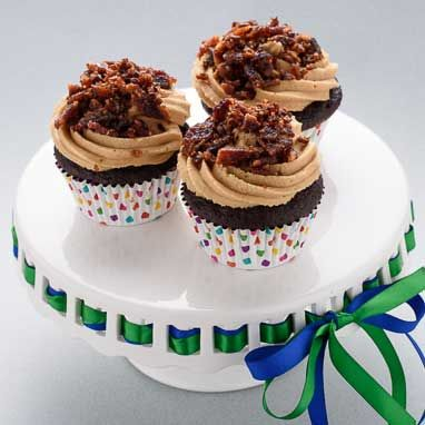 Chocolate Peanut Butter Bacon Cupcakes Recipe With Images