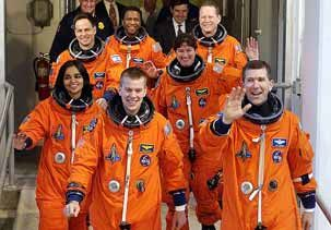 The space shuttle Columbia crew on Jan. 16, 2001 (© NASA via AP)  How the Columbia tragedy unfolded.  10 years ago today (Feb 1, 2003), America's first space shuttle was ripped into more than 84,000 pieces, killing Columbia's crew of seven & changing NASA forever.