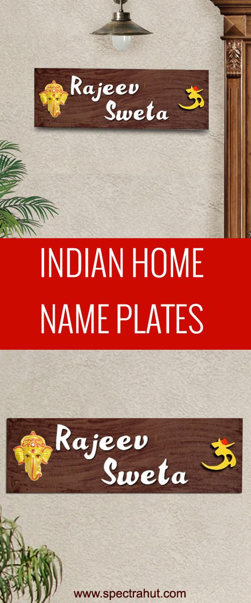 Pin On Indian Home Name Plates