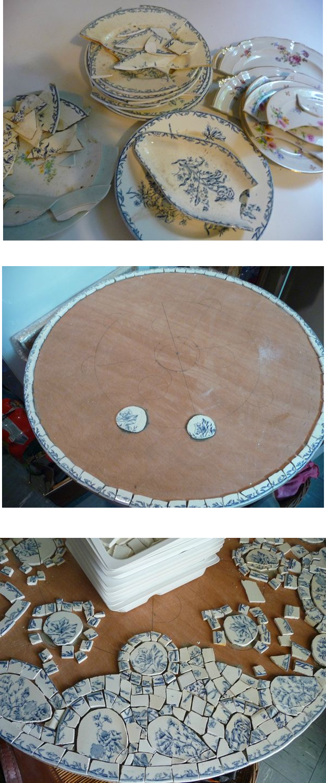 les assiettes de grand mère. - kinettelamosa | Mosaique | Mosaic ...