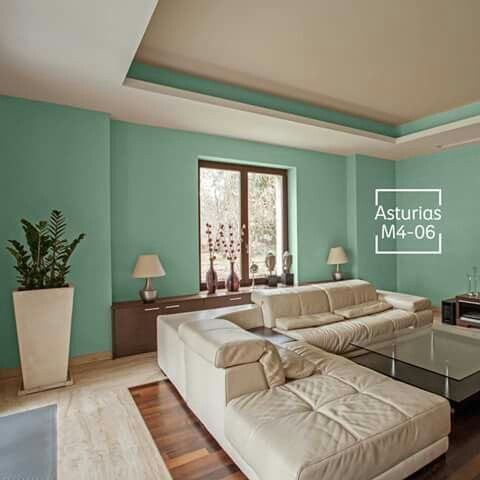 Color jade comex verdes pinterest colores paredes for Sala de pintura y comedor