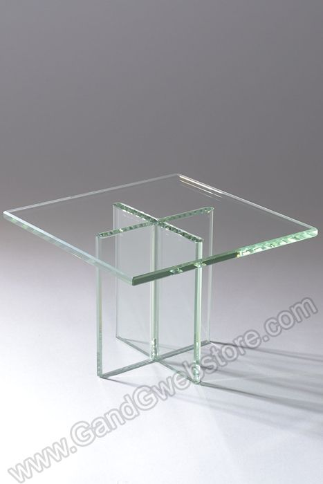 8  X 5.5  GLASS PLATE STAND CLEAR - GandGwebStore.com & 8