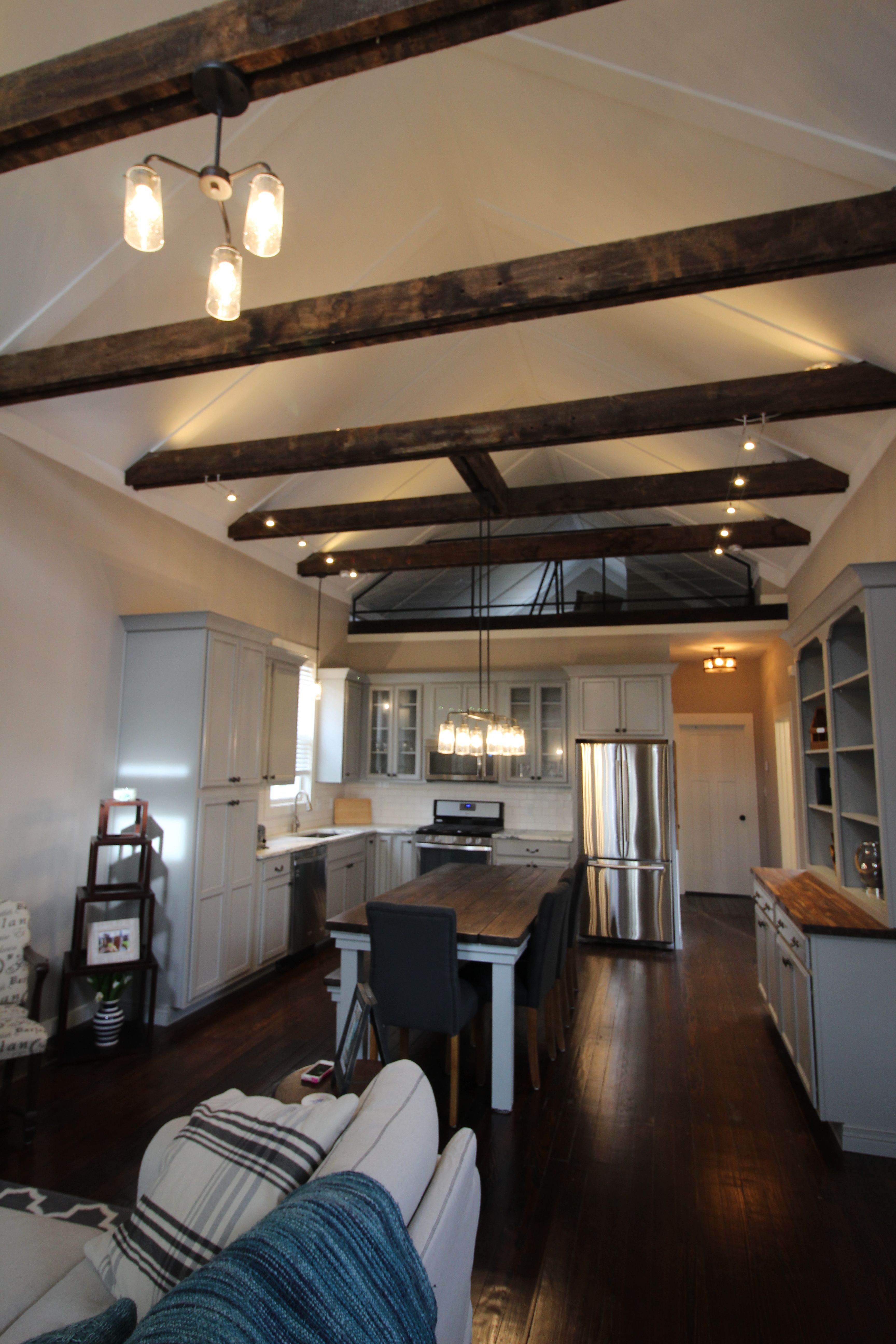 Remodeled shotgun house looks spacious by adding a vaulted ...