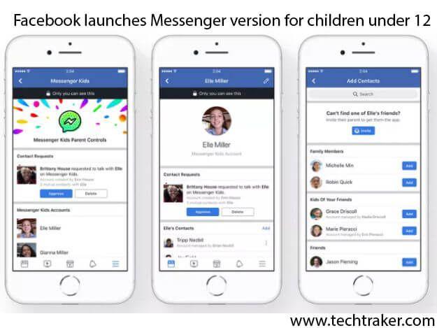 Facebook launches Messenger version for children under 12