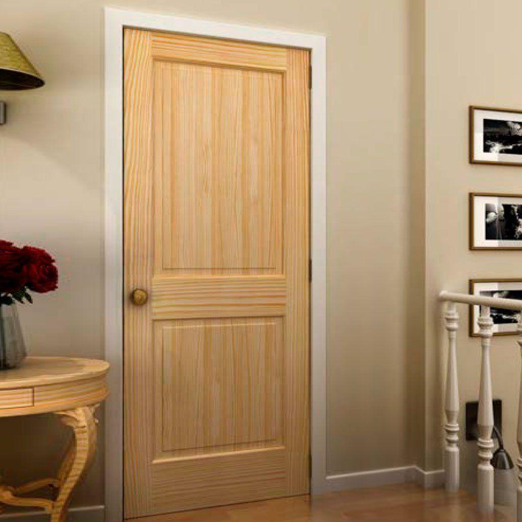 Shaker 2 Panel Solid Core White Interior Door Slab Wood Doors Interior Doors Interior Pine Interior Doors
