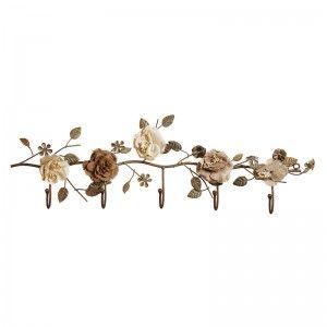 çiçekli Metal Duvar Askısı Evdebir Ev Home Dekorasyon Dekoratif
