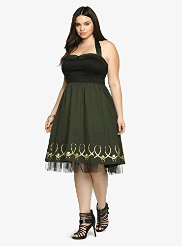 2f5d0453c2a Fashion Bug Plus Size  Dresses  Marvel By Her Universe Collection Loki  Halter Dress www.fashionbug.us  PlusSize  FashionBug  Vintage  Retro  PinUp  ...